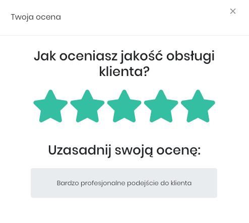 Zrzut ekranu prezentujący opinię klienta.