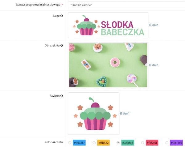 Zrzut ekranu prezentujący konfigurację wyglądu modułu klienta.