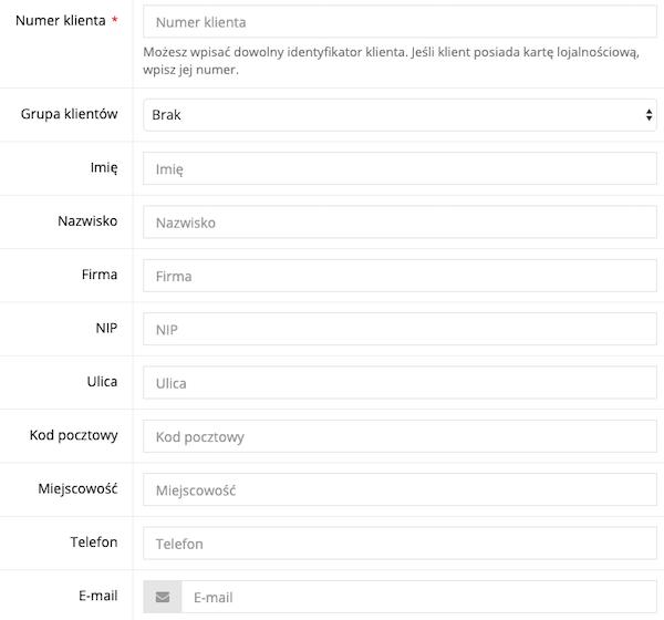 Zrzut ekranu prezentujący formularz rejestracyjny