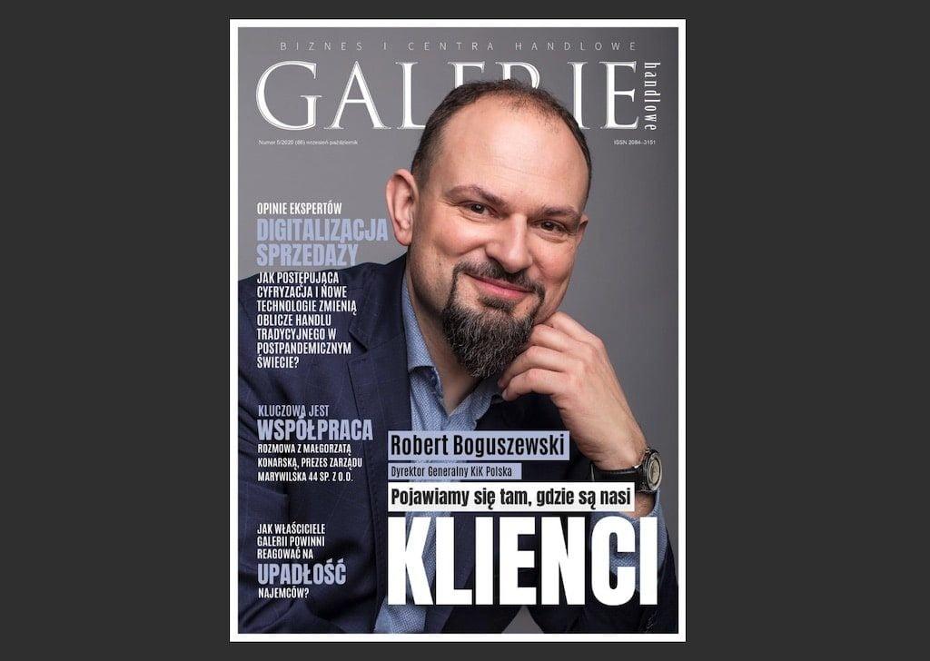 Okładka magazynu Galerie Handlowe - wrzesień 2020